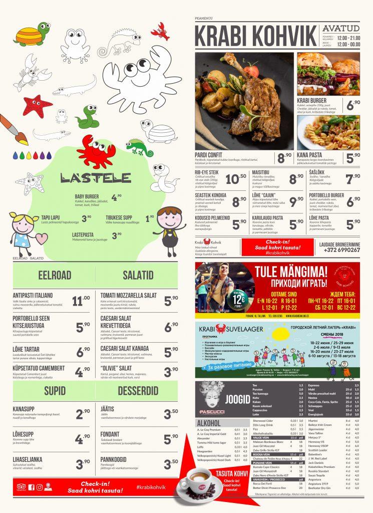 menu cafe 2018 - 06 - bez sushi
