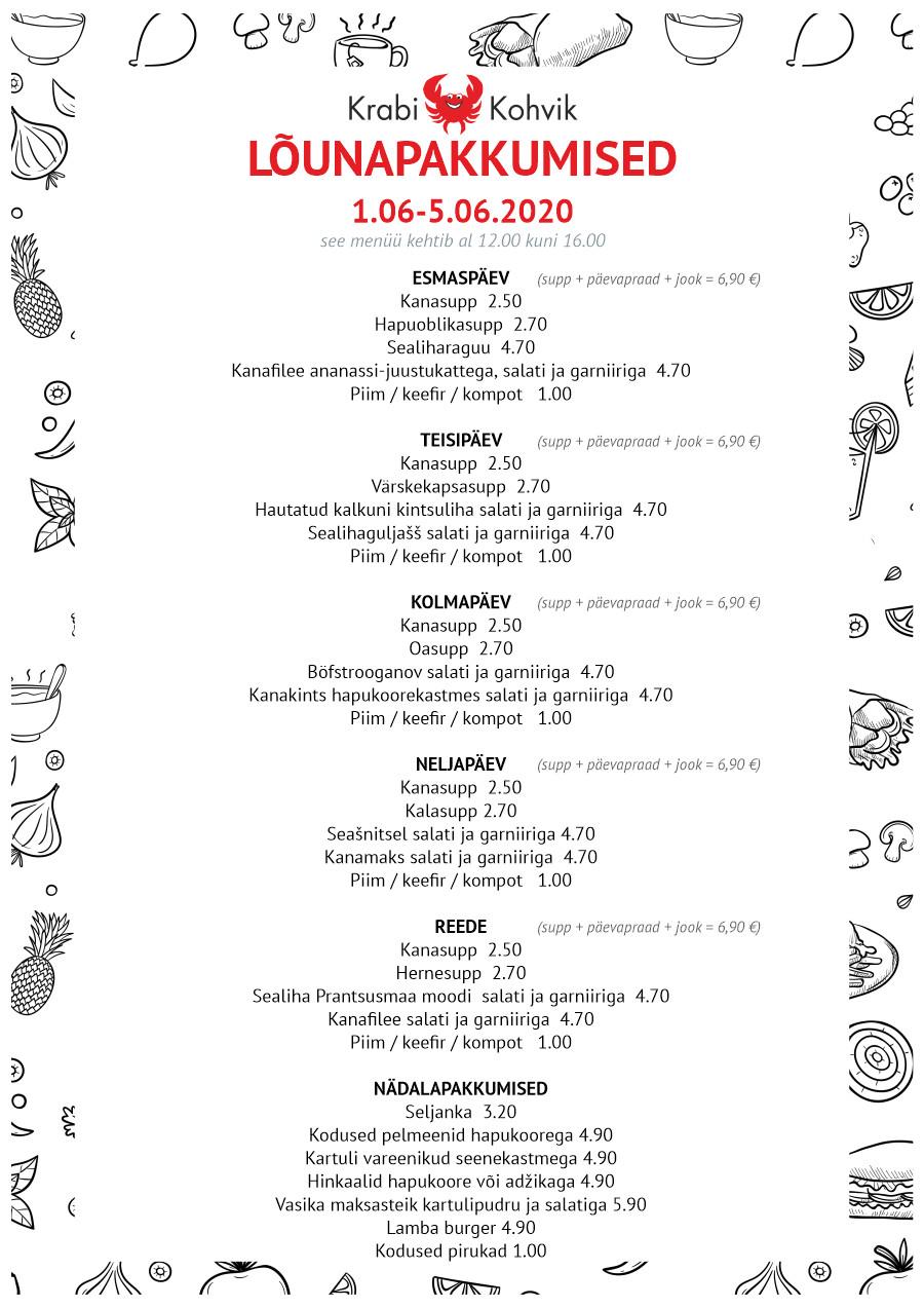 PAEVAMENUU - WEB 01.06-05.06.2020