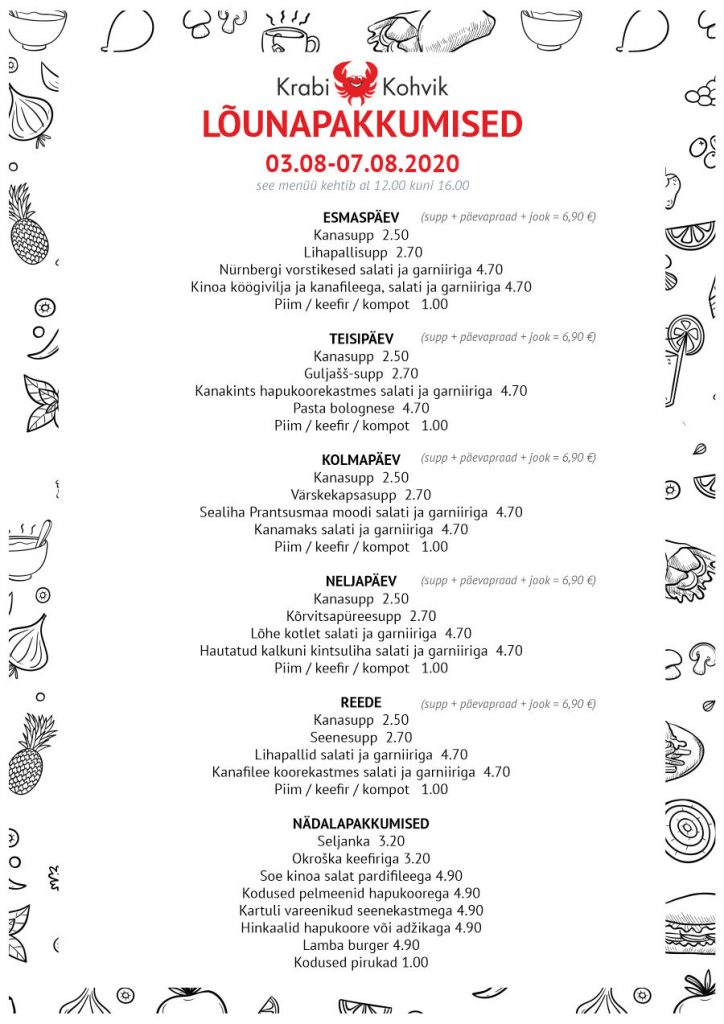PAEVAMENUU - WEB 03.08-07.08.2020