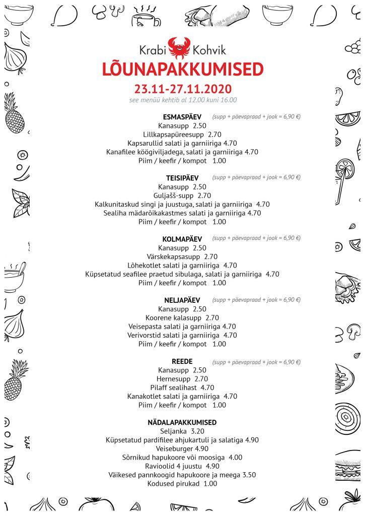 PAEVAMENUU - WEB 23.11-27.11